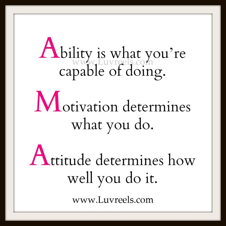 ability is what youre capable of doing