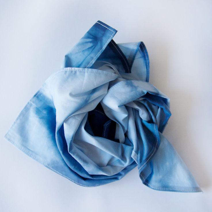 CULT OF ONE shibori dyed bandana/pocket square