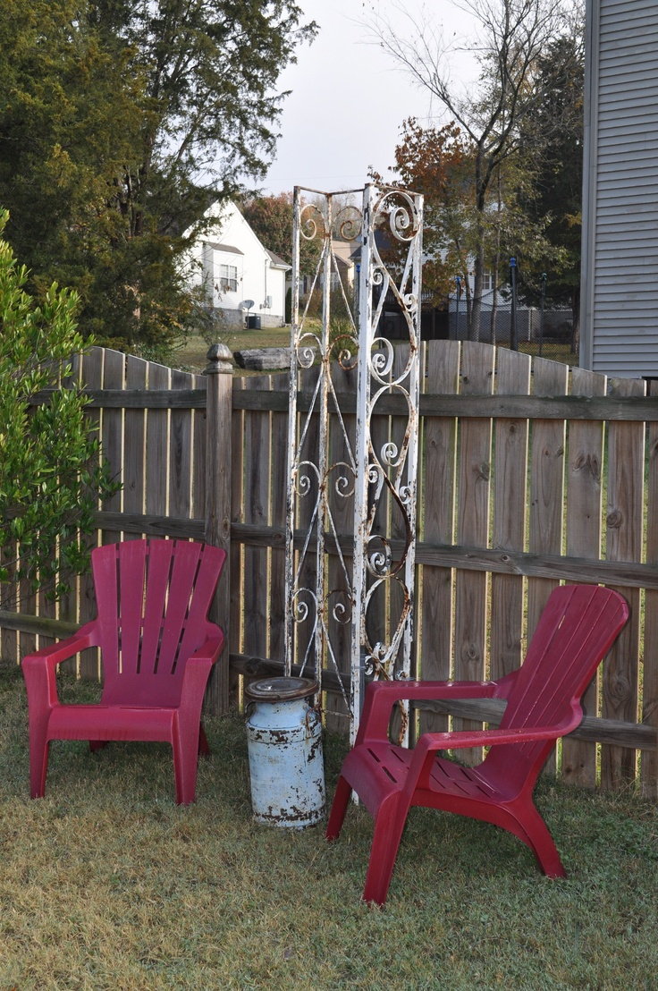 Old Wrought Iron Porch Supports Make A Great Trellis Cant