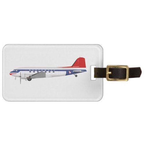 Douglas DC-3 Skytrain Northwest Airlines Bag Tag