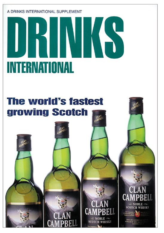 Cover concept and shot for Drinks International