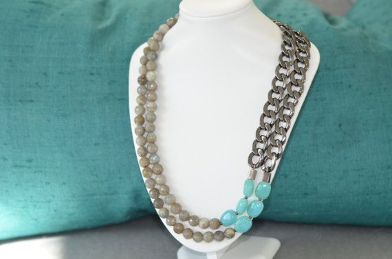 Statement Necklace Chunky Chain Necklace by MimiJayDesigns on Etsy