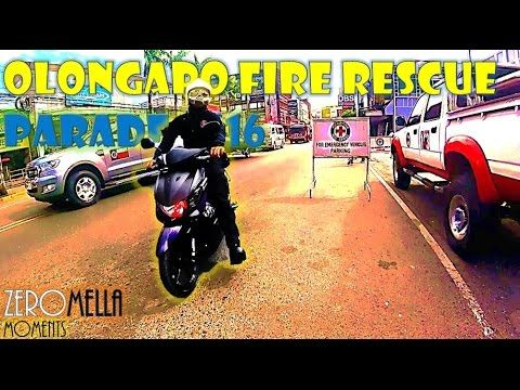 Fire Rescue Vehicles and Crew, Olongapo City Parade 2016