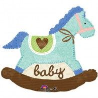 Shape Blue Baby Rocking Horse $17.95 U24575