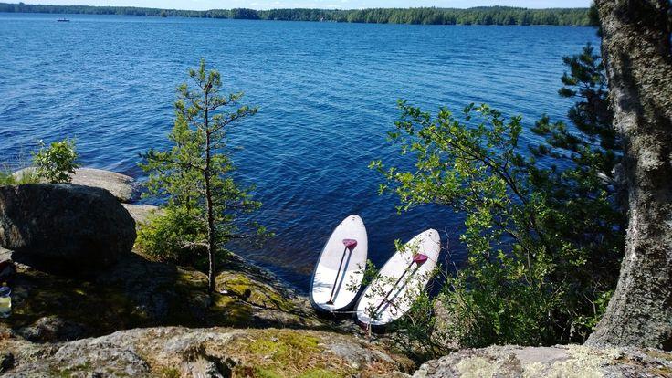 #supboarding #jalolautta #finland #loppi #punelia #kesä #retki #sup #melonta