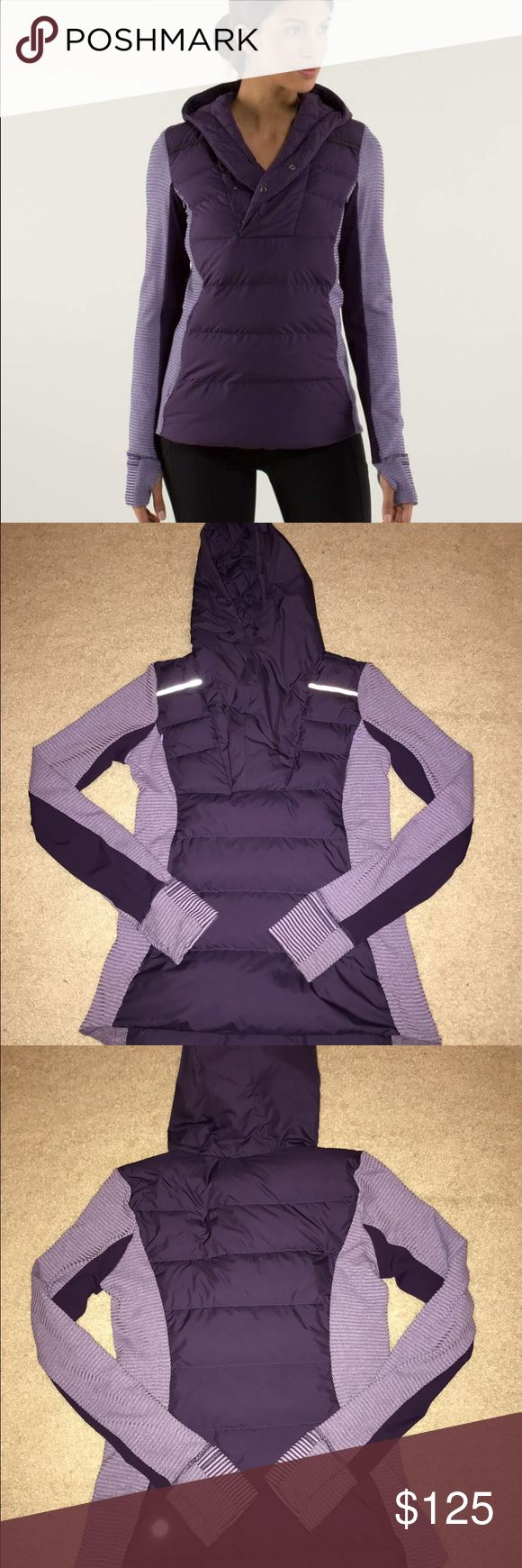 Lululemon Fluff Off Pullover Like New Sz 6 Like new condition. Size 6. Rip tag has been removed but size dot indicated size 6. No stains no tears no pilling. Only worn twice. Lovely pullover, discontinued style. NO TRADES, cheaper through PayPal or mercari lululemon athletica Jackets & Coats
