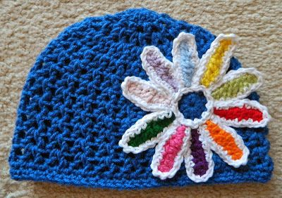 Daisy Crocheted Beanie Girl Scouts Pinterest Girl