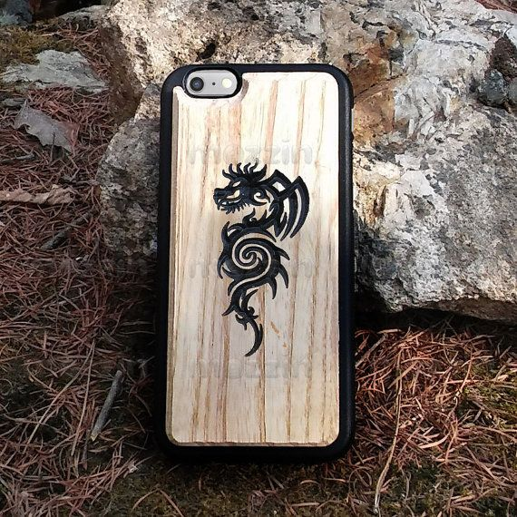 Carved Wood Phone Case  Lion by mozzin on Etsy