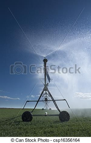 Stock Photo - Center pivot irrigation field - stock image, images, royalty free…
