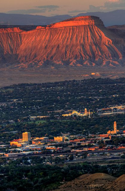 Sunset on Mt. Garfield in Grand Junction, Colorado.  Alway will be my second HOME :)