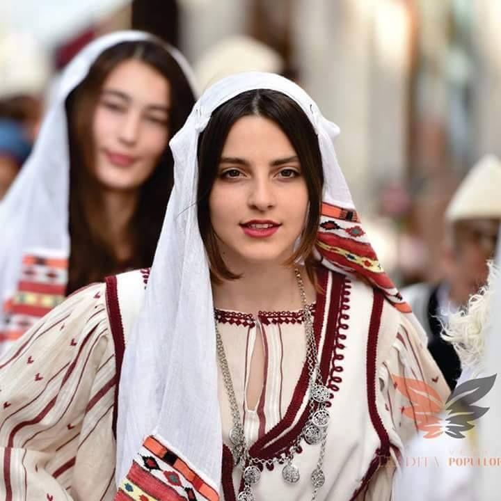Albanian girl costume