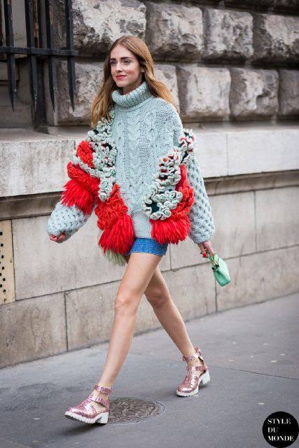 Paris Fashion Week FW 2015 Street Style: Chiara Ferragni