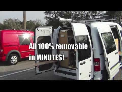 Ford Transit Connect Camper >> Ford Transit Connect Camper Conversion: Pro & Homemade DIY ...