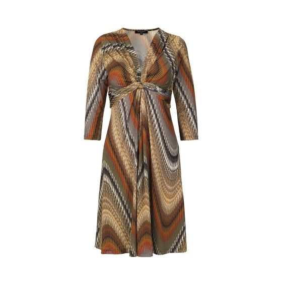 Wave-printed effect dress