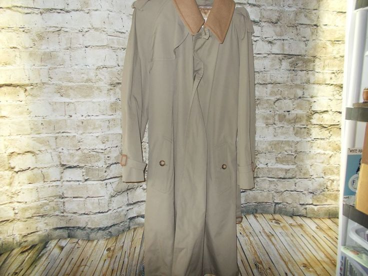 Brooks Brothers Removable Wool Lined Trench Coat Size 40 Defects Tan/Camel Color #BrooksBrothers #Trench