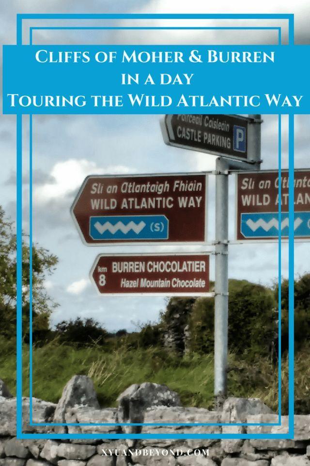 Visiting the Cliffs of Moher and the Burren in Ireland #wildatlanticway #ireland #visitireland #cliffsofmoher #burren