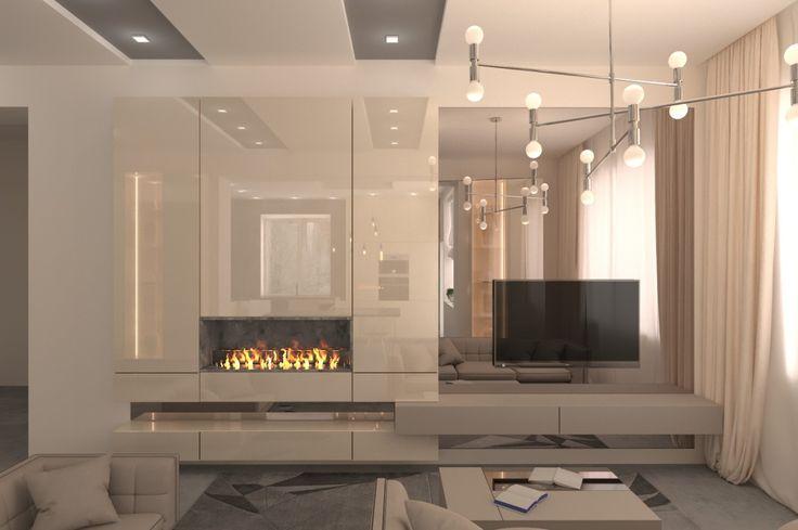 Гостиная Mirror. Мебельная студия DS Avangard. Дизайн гостиной. Украина, Харьков.