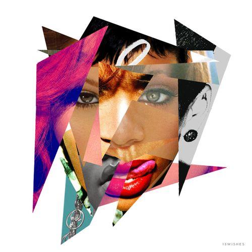 Rihannas album covers through the years.