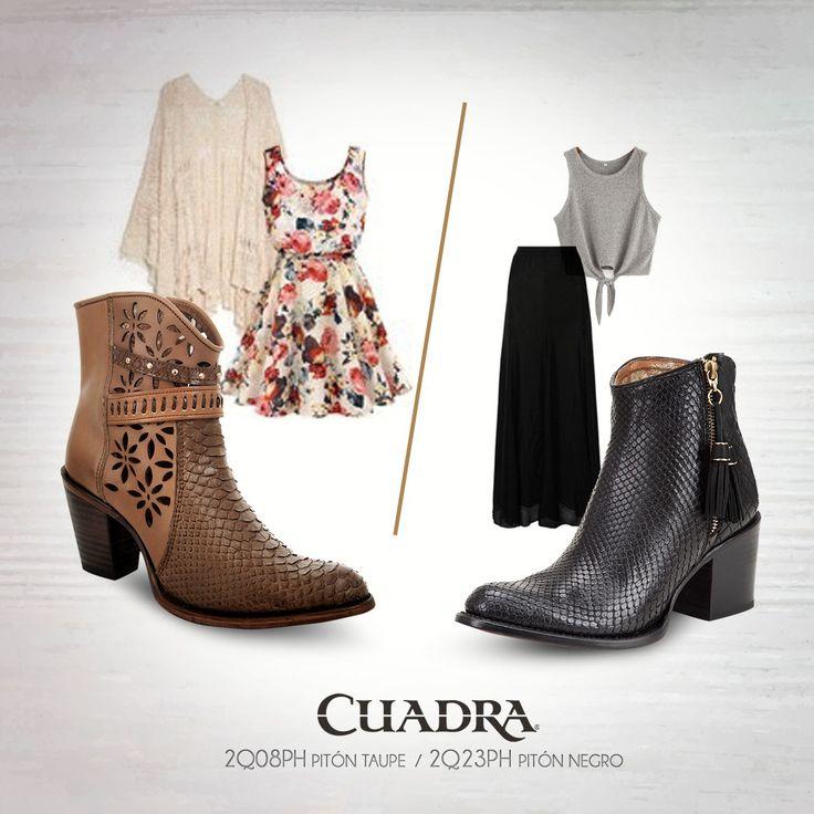 #CUADRA Tu mejor aliado para cualquier ocasión. #botines #botas #Boots #Cowgirl #Phyton