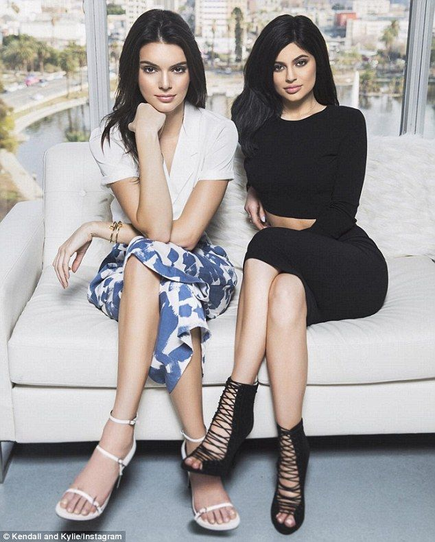 Fashion empire: Kendall and Kylie Jenner posed in looks from their new clothing line Kendall + Kylie