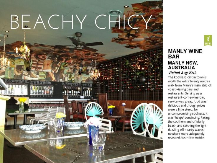 Manly Wine Bar by Rachel Wiltshire