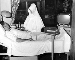 Nurse at Good Samaritan Hospital, Cincinnati, Ohio.   a nun of the Sisters of Charity