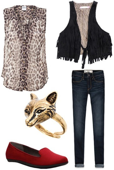 """""""Draped in Leopard Mink"""" - outfit inspired by Macklemore & Ryan Lewis' """"Thrift Shop"""" ft. Wanz"""