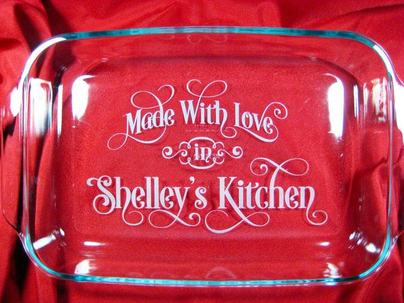Personalized 9x13 Pyrex Baking Dish Made with by LaserScribeIt