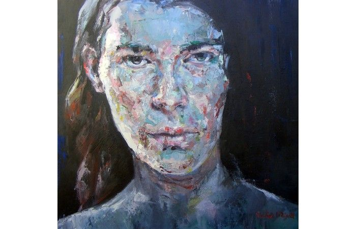 Victor Grigore Metanoia II  [2014]  Oil on canvas 78 × 79 cm (30.7 × 31.1 inch) Estimate €400 - €500  http://lavacow.com/metanoia-ii.html