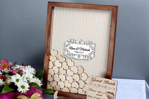 Wedding guest book alternative Rustic Wedding Guest Book