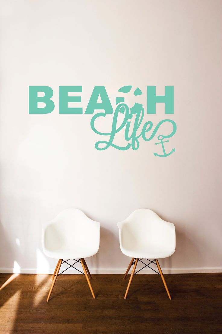 207 best wall quotes decals images on pinterest wall quotes beach life with anchor amipublicfo Gallery