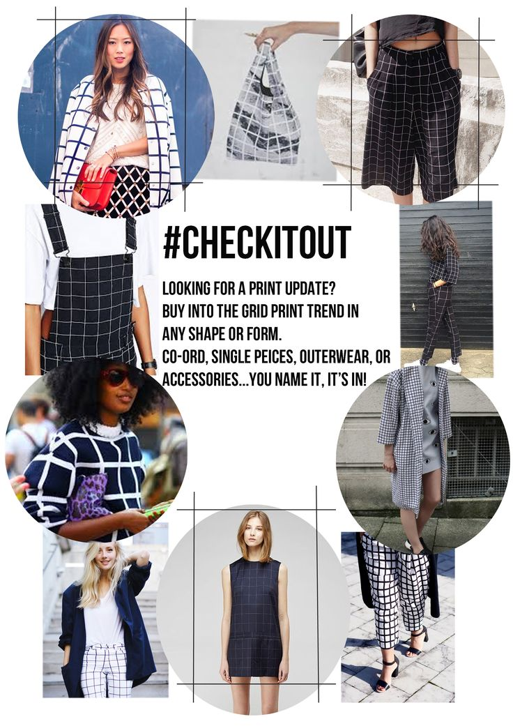 Get inspired by our #CHECKITOUT trend edit! #check #gridcheck #trend #trendedit