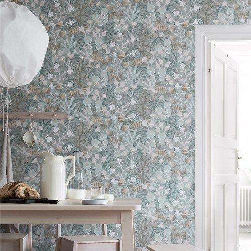 Brewster Wallcoverings Hanna Werning Wonderland Korall Meadow Wallpaper Room Setting