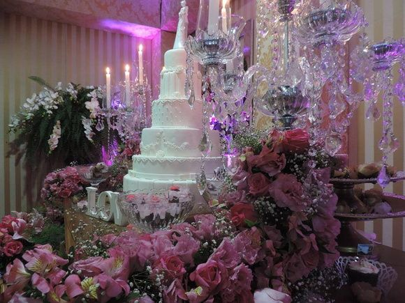 Bolo fake casamento- Flores 5 andares