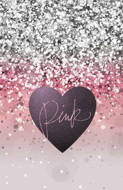 "Victoria's Secret glitter/sparkle ""Pink"" phone wallpaper I made. Feel free to use it!"