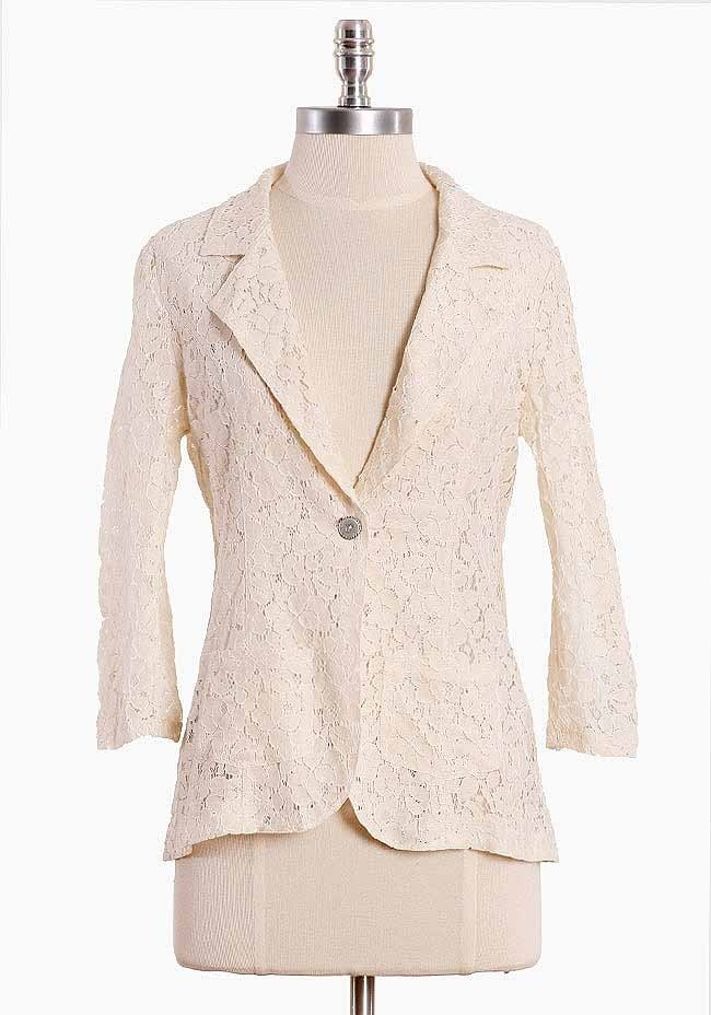 Collective Thoughts Lace Blazer $42.99: Cream Lace, Blazers Ruched, Collection Thoughts, Cream Blazers, Blazers 42 99, Thoughts Lace, Lace Blazers, Wear Jackets Blazers Suits, Blazers Sweat