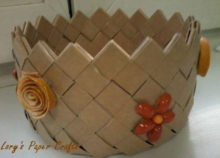 milk box weaved basket
