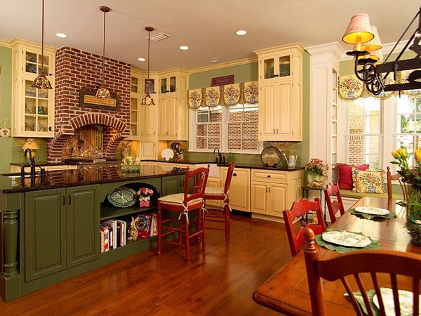 Best 25 green country kitchen ideas on pinterest for Country kitchen colors ideas