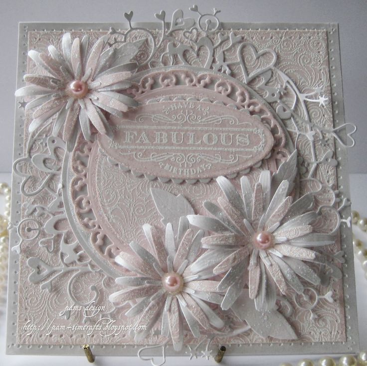 Lovely Asters birthday card