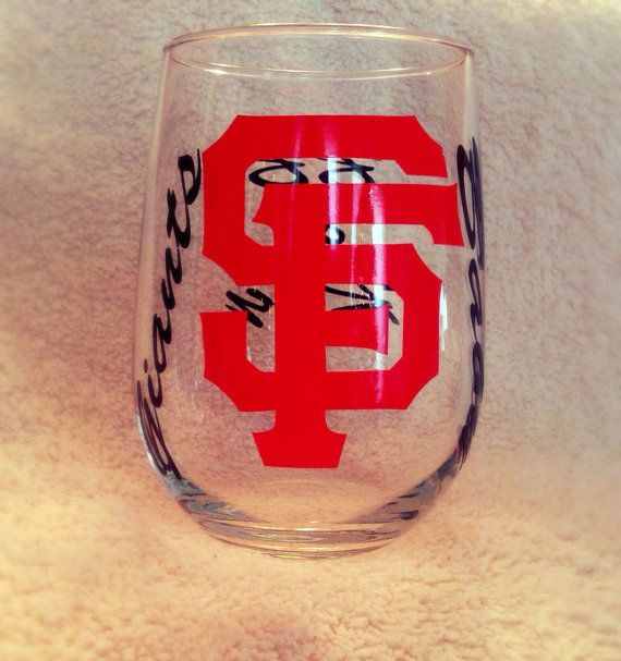 Personalized MLB Giants Baseball Stemless by OliviaQuinnCouture