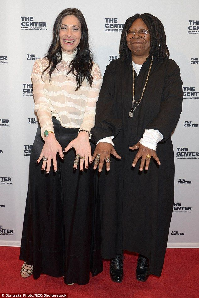 All style: Fashion Maven Stacy London made an appearance on the carpet with Whoopi...