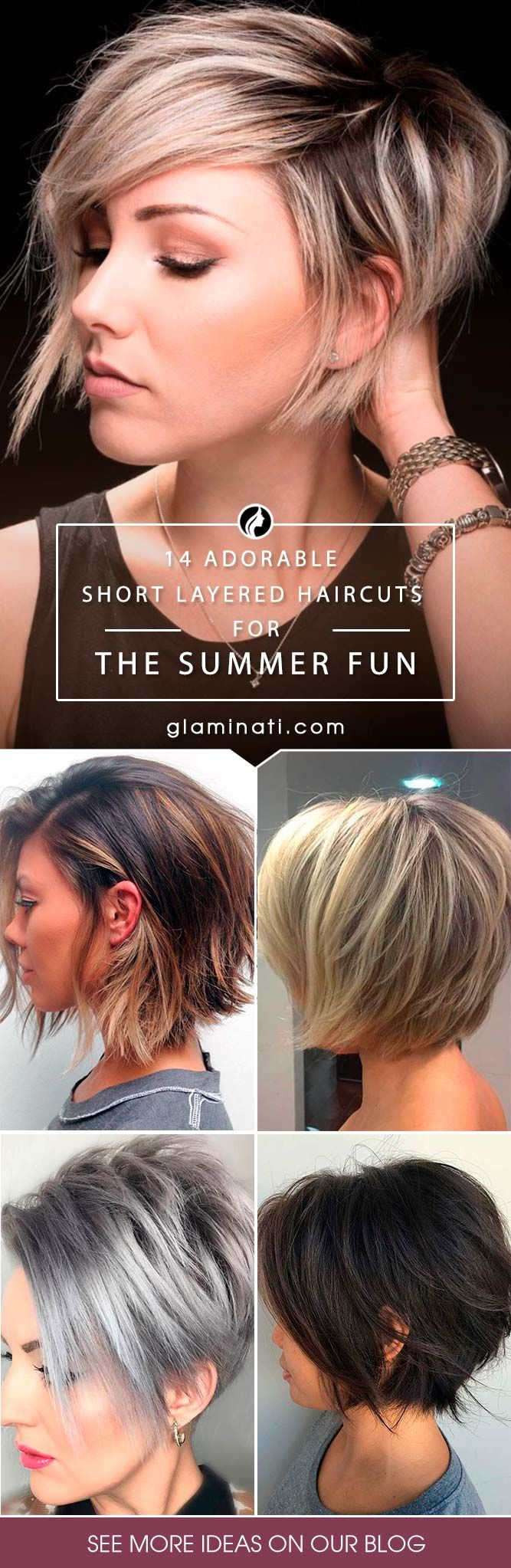 Short layered haircuts are totally in at the moment. With summer just months away, you might be thinking of trading in your longer locks for a simpler style to survive those torrid summer months.