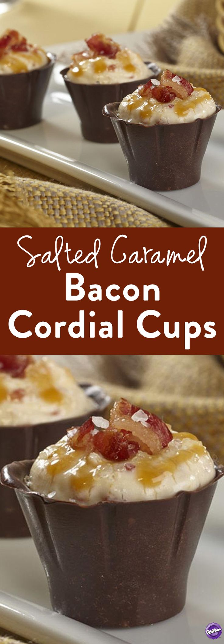 with these Salted Caramel Bacon Cordial Cups. Combine pudding, bacon ...
