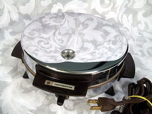 Sold Vintage Toastmaster 7 Quot Round Chrome Waffle Maker