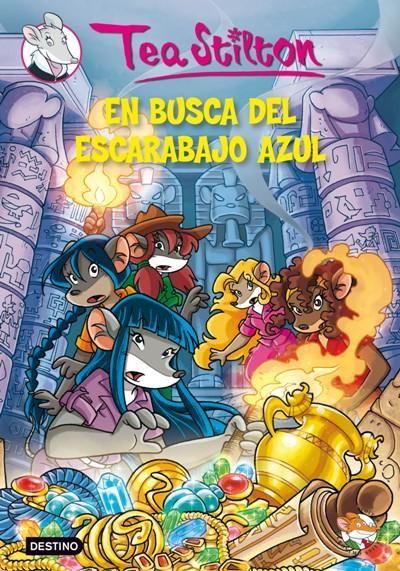 """Tea Stilton. """"En busca del escarabajo azul"""". Editorial Destino (infantil-Verd)"""