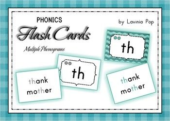 Phonics Flashcards - Multiple Phonograms Identification {53 pages} Includes flash cards with a colored back ground, as well as black and white. This unit contains 45 Multiple Phonograms flashcards. The front of each flashcard displays the phonogram, the number of sounds it says (the number of circles displayed) and the identification for it. The reverse of each card displays examples of words that denote each sound for each phonogram.