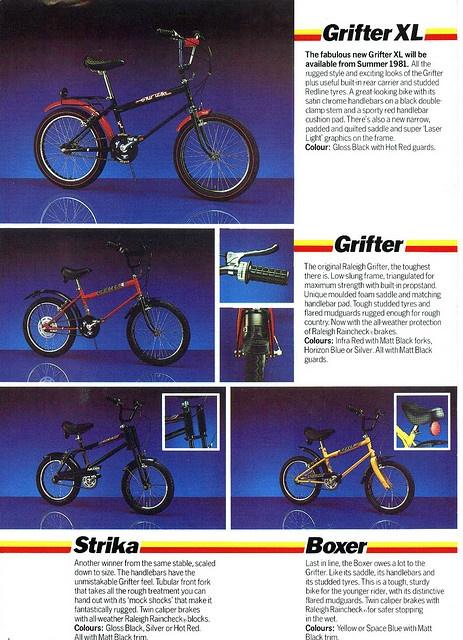 Raleigh Grifter, Grifter XL, Striker and Boxer advert