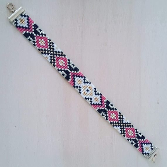 "CLAUDIE ""Bracelet tissage perles myiuki """