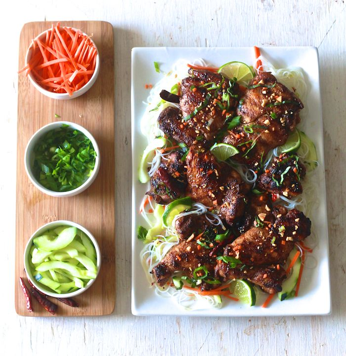 Five Spice Chicken with Vermicelli Noodle Salad