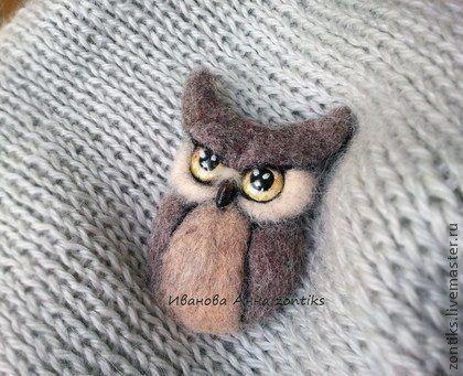 брошь валяние мастер класс: 19 тыс изображений найдено в Яндекс.Картинках. Owl.